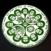 1972 Retro Seasons Theme Calendar Plate Mount Clemens