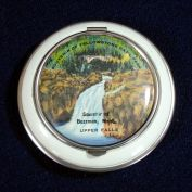 1930s Enameled Pictorial Yellowstone Souvenir Powder Compact