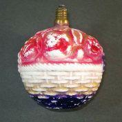 Figural Christmas Light Bulb Pink Lantern Milk Glass Made in Japan 1920s 3