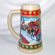 Budweiser 1993 Annual Christmas Stein Hometown Holiday