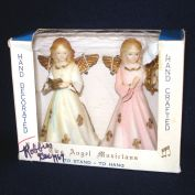 Hard Plastic 1960s Christmas Angel Figure Ornaments in Box