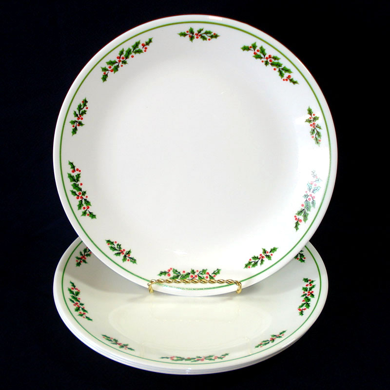 Copperton Lane: Corelle Christmas Holly Days Dinner Plates Set of ...