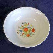 Chinex 1930s Flower Bouquet Serving or Vegetable Bowl