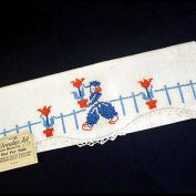 1940 Salesman Sample Embroidered Dutch Boy Fingertip Guest Towel