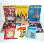Doll World and Doll News Magazines 9 Issues 1970s