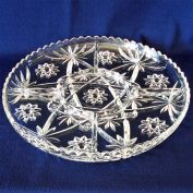 EAPC Early American Prescut Hocking Divided 5 Part Relish Tray