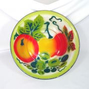 Graniteware 12 Inch Bowl With Fruit Decoration