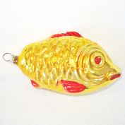 Gold Fish West Germany Glass Christmas Ornament