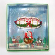 Hallmark 1980 Santa's Flight Christmas Ornament Mint in Box