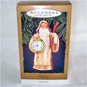 Hallmark 1996 Father Time Timepiece Clock Christmas Ornament