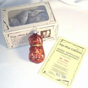 Inge 1982 Glass Sitting Dog Christmas Ornament Mint In Box