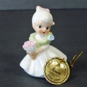 Napco Bone China Mini January Flower Girl Month Figurine