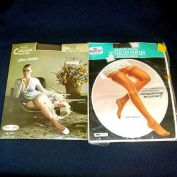 2 Mint Packages 1960s Nylon Stockings Size 10 - 11 Dark Brown