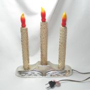 Gold Mesh Wrapped Triple Christmas Lighted Candolier