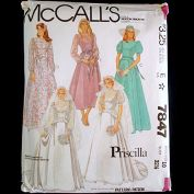 McCalls Priscilla Bridal Wedding Gown Sewing Pattern Uncut Size 10