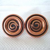 Renoir Modernist Spiral Coils Solid Copper Cufflinks