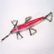 Beaded Mercury Glass Rocket Christmas Ornament