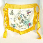 1940s Yellowstone Cowboys Indians Souvenir Ruffled Satin Apron
