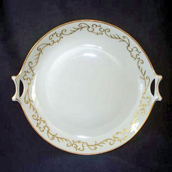 Hutschenreuther Selb Bavaria Gold Scrolls Handled Serving Plate