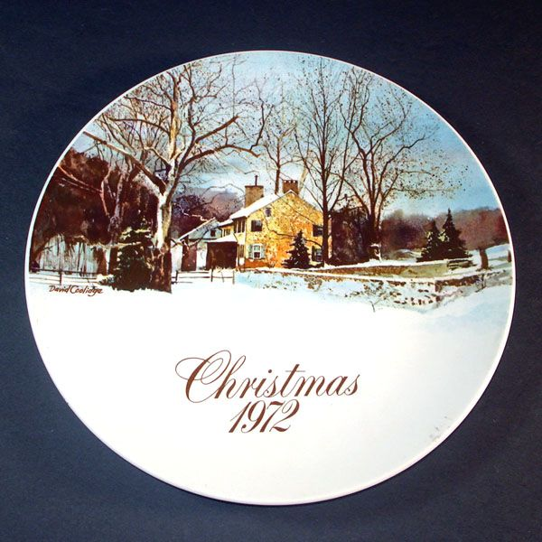 Smuckers 1972 Christmas Collector Plate, 1st in Series