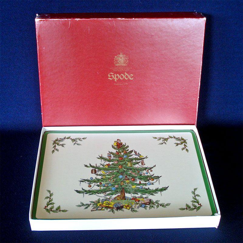 England Christmas Tree.Box 4 Spode England Christmas Tree Place Mats