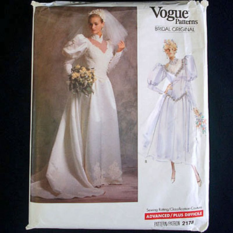 Copperton Lane: Vogue 1988 Size 8 Bridal Wedding Dress Sewing ...