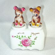 Bear Cub Nodder Salt Pepper Shakers Yellowstone Souvenir